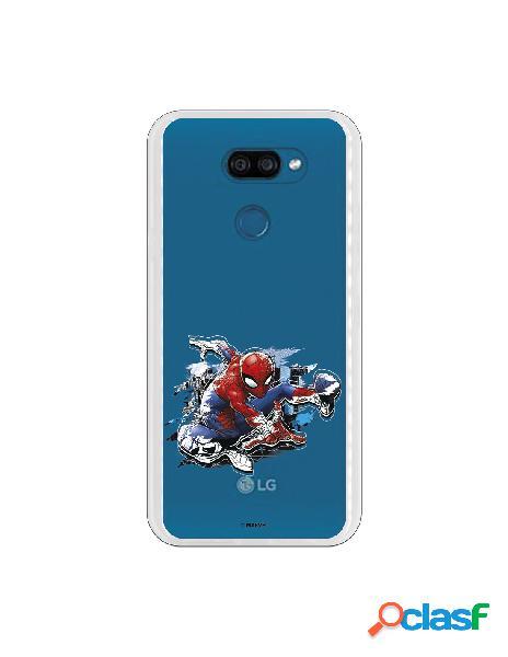 Funda para LG K40S Oficial de Marvel Spiderman Silueta