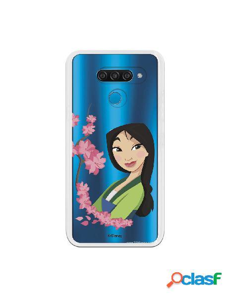 Funda para LG K50 Oficial de Disney Mulan Amapolas - Mulan