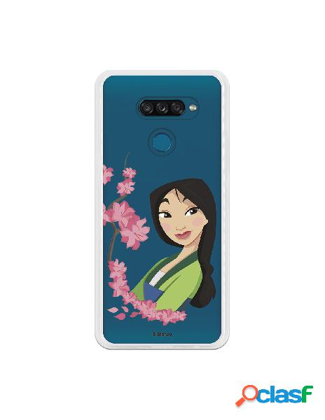 Funda para LG K50S Oficial de Disney Mulan Amapolas - Mulan