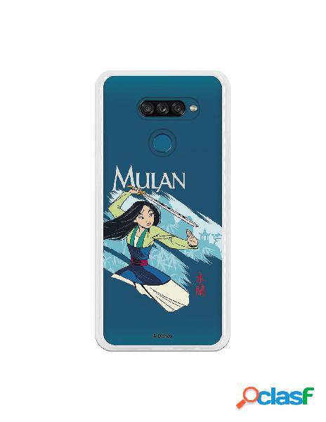 Funda para LG K50S Oficial de Disney Mulan Tipografia -