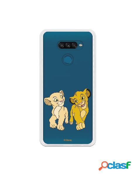 Funda para LG K50S Oficial de Disney Simba y Nala Mirada
