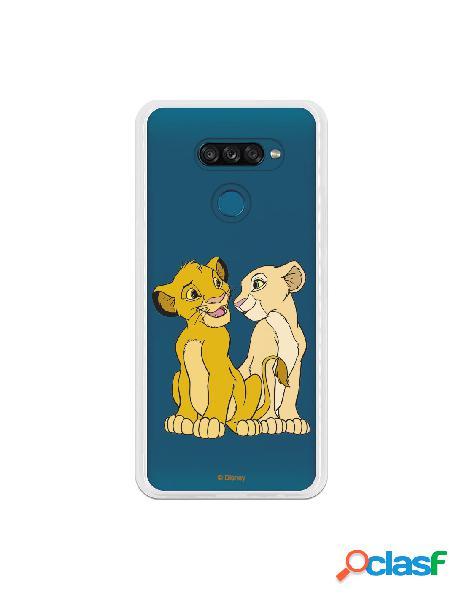 Funda para LG K50S Oficial de Disney Simba y Nala Silueta -