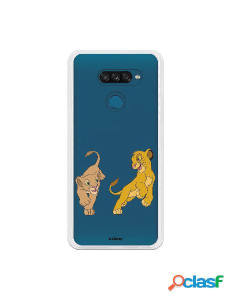 Funda para LG K50S Oficial de Disney Simba y Nala jugando -