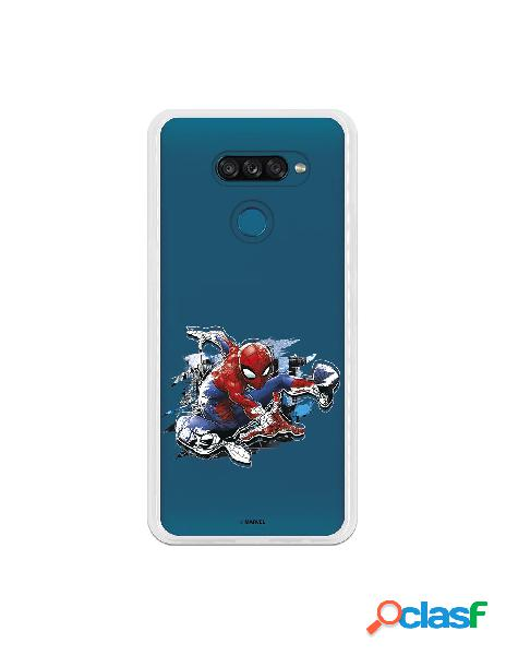 Funda para LG K50S Oficial de Marvel Spiderman Silueta