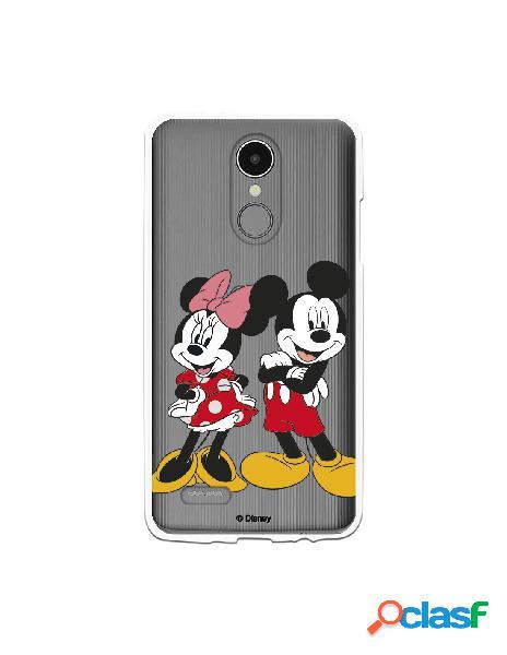Funda para LG K8 2017 Oficial de Disney Mickey y Minnie