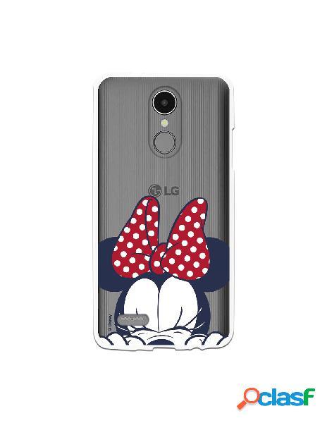 Funda para LG K8 2017 Oficial de Disney Minnie Cara -