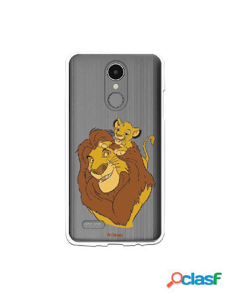 Funda para LG K8 2017 Oficial de Disney Mufasa y Simba