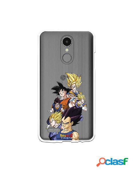 Funda para LG K8 2017 Oficial de Dragon Ball Goku y Vegeta