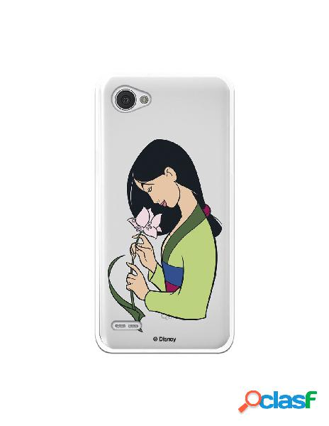Funda para LG Q6 Oficial de Disney Mulan Flor de Loto -