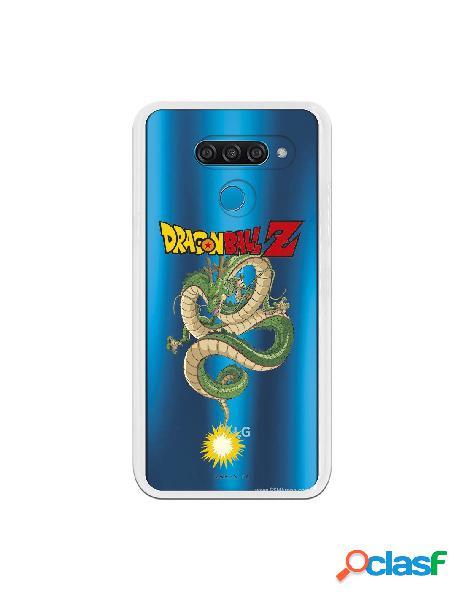 Funda para LG Q60 Oficial de Dragon Ball Shenron Silueta -