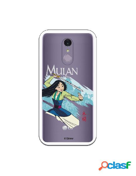 Funda para LG Q7 Oficial de Disney Mulan Tipografia - Mulan