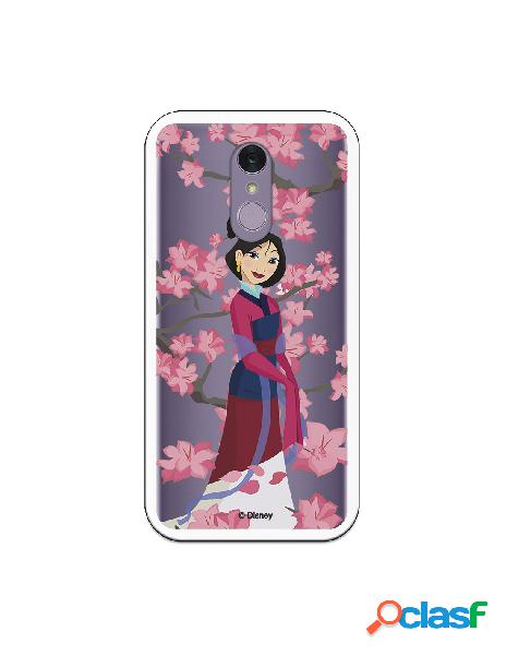 Funda para LG Q7 Oficial de Disney Mulan Vestido Granate -