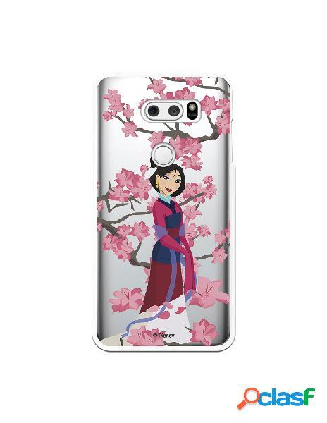 Funda para LG V30 Oficial de Disney Mulan Vestido Granate -