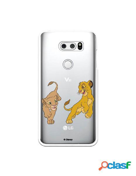 Funda para LG V30 Oficial de Disney Simba y Nala jugando -