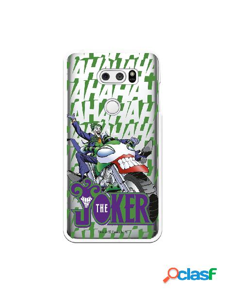 Funda para LG V30S ThinQ Oficial de DC Comics Joker Moto -