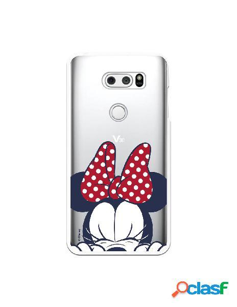 Funda para LG V30S ThinQ Oficial de Disney Minnie Cara -