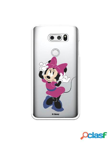 Funda para LG V30S ThinQ Oficial de Disney Minnie Rosa -