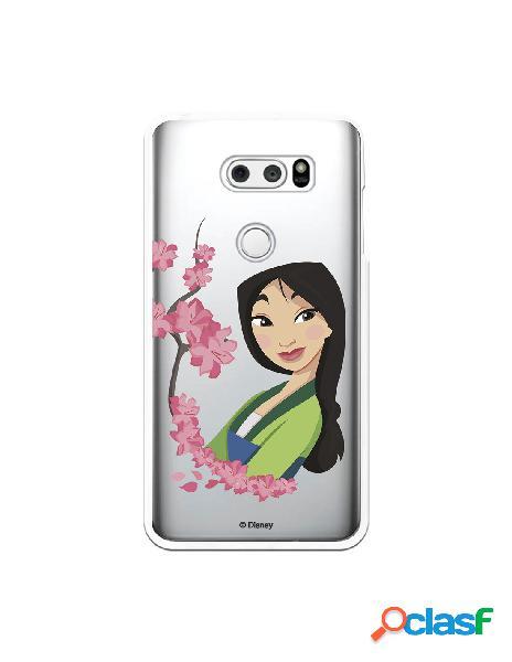 Funda para LG V30S ThinQ Oficial de Disney Mulan Amapolas -