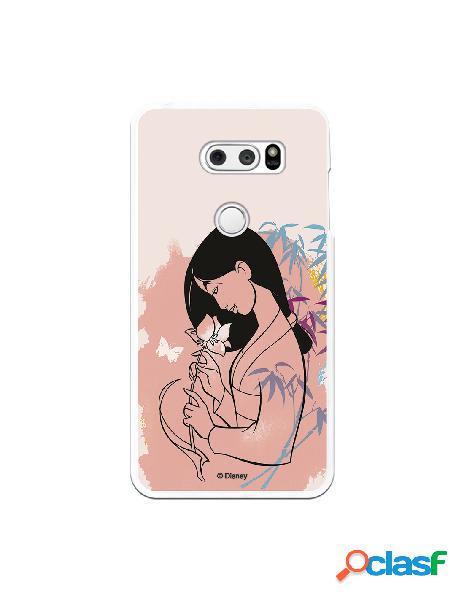 Funda para LG V30S ThinQ Oficial de Disney Mulan Flor de