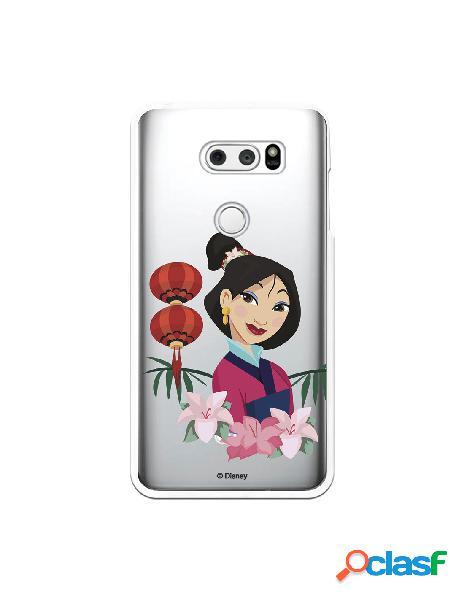 Funda para LG V30S ThinQ Oficial de Disney Mulan Rostro -