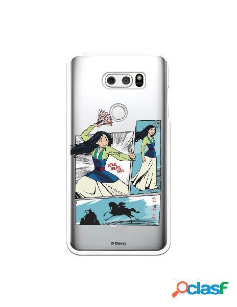 Funda para LG V30S ThinQ Oficial de Disney Mulan Viñetas -