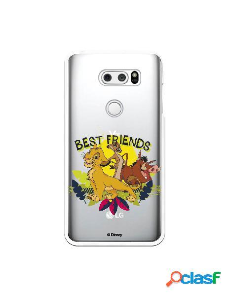 Funda para LG V30S ThinQ Oficial de Disney Simba, Timón y