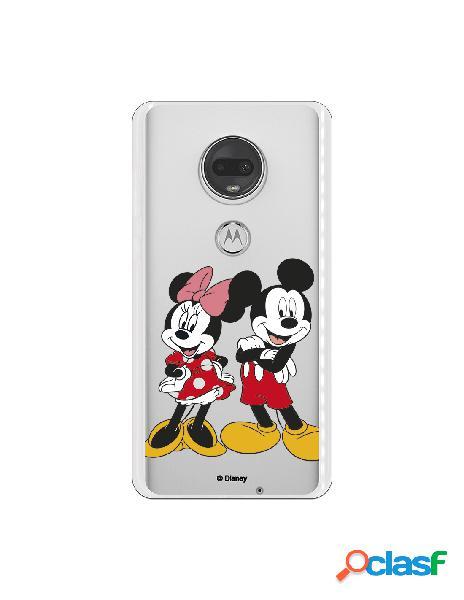 Funda para Motorola Moto G7 Oficial de Disney Mickey y