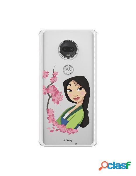 Funda para Motorola Moto G7 Oficial de Disney Mulan Amapolas