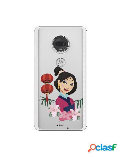 Funda para Motorola Moto G7 Oficial de Disney Mulan Rostro -