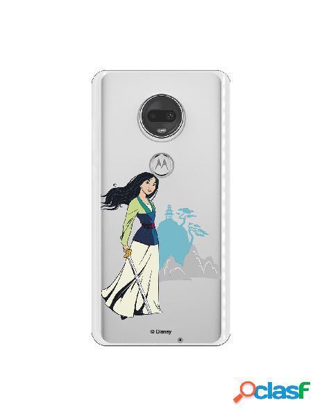 Funda para Motorola Moto G7 Oficial de Disney Mulan Templo -