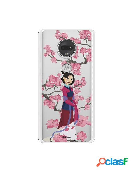 Funda para Motorola Moto G7 Oficial de Disney Mulan Vestido