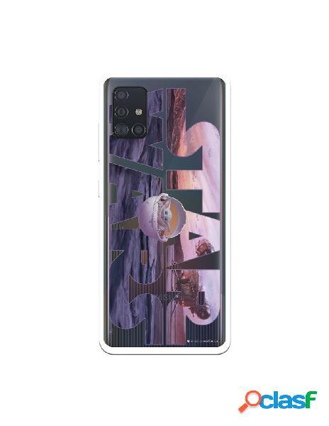Funda para Samsung Galaxy A51 Oficial de Star Wars Baby Yoda