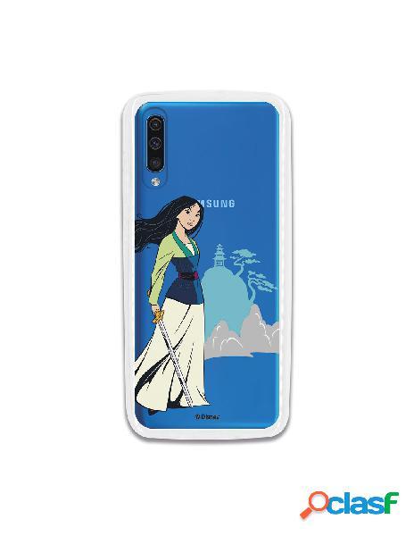 Funda para Samsung Galaxy A70 Oficial de Disney Mulan Templo