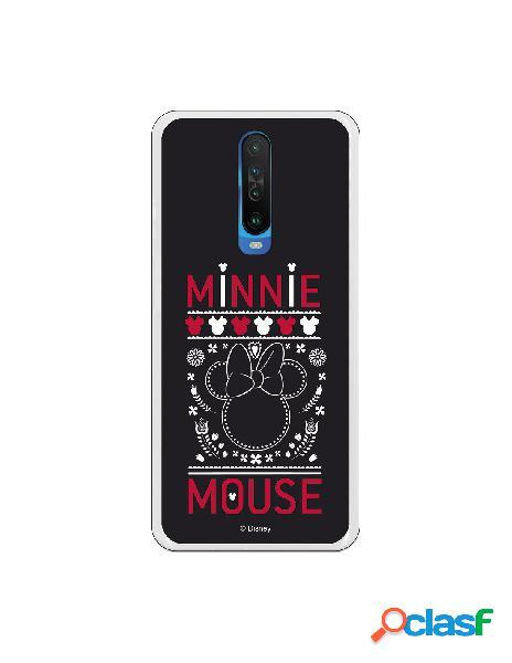 Funda para Xiaomi Mi 10T Oficial de Disney Minnie Negro