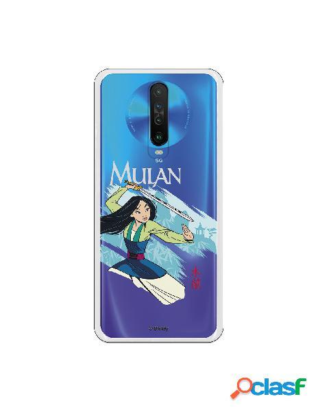 Funda para Xiaomi Mi 10T Oficial de Disney Mulan Tipografia