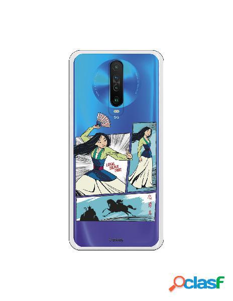 Funda para Xiaomi Mi 10T Oficial de Disney Mulan Viñetas -