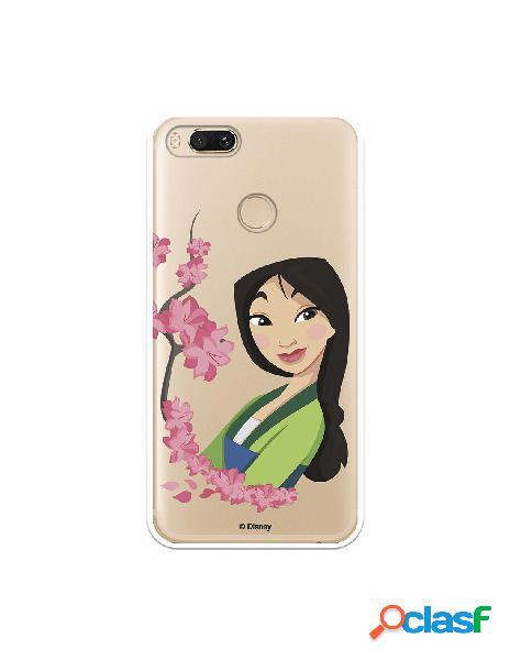Funda para Xiaomi Mi 5X Oficial de Disney Mulan Amapolas -