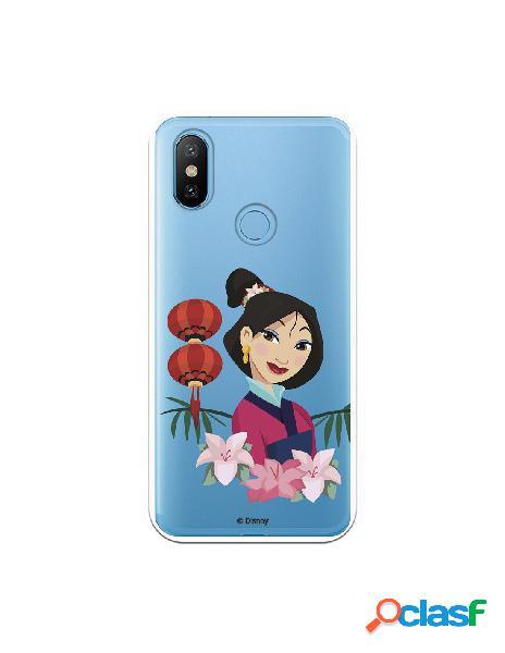 Funda para Xiaomi Mi 6X Oficial de Disney Mulan Rostro -