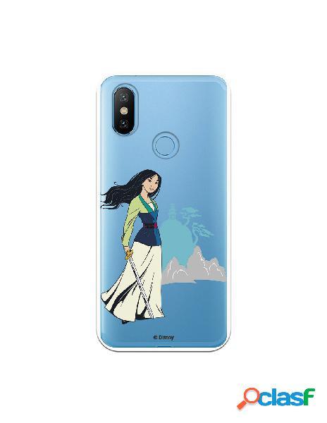 Funda para Xiaomi Mi 6X Oficial de Disney Mulan Templo -