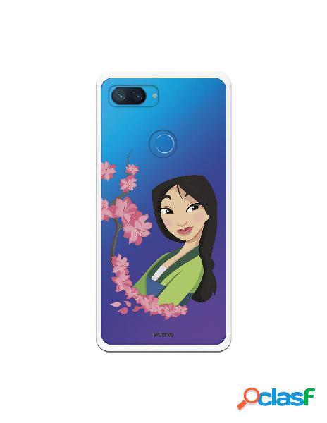 Funda para Xiaomi Mi 8 Lite Oficial de Disney Mulan Amapolas