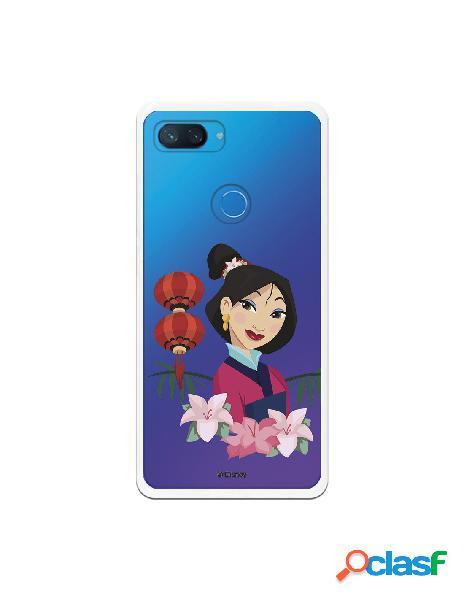 Funda para Xiaomi Mi 8 Lite Oficial de Disney Mulan Rostro -