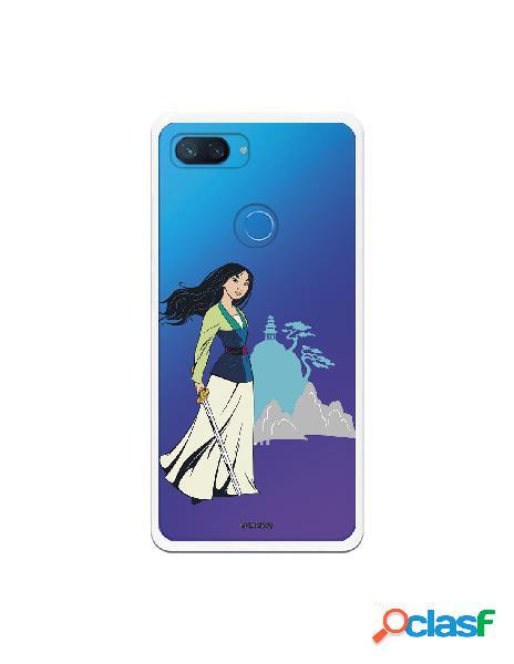 Funda para Xiaomi Mi 8 Lite Oficial de Disney Mulan Templo -
