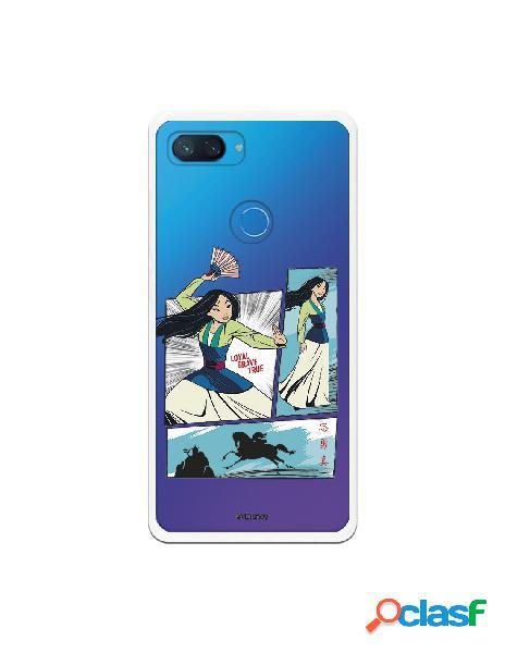 Funda para Xiaomi Mi 8 Lite Oficial de Disney Mulan Viñetas