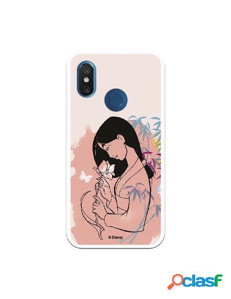 Funda para Xiaomi Mi 8 Oficial de Disney Mulan Flor de Loto