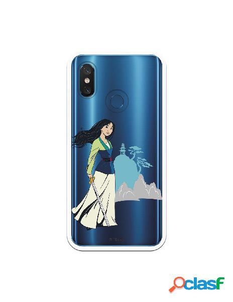 Funda para Xiaomi Mi 8 Oficial de Disney Mulan Templo -