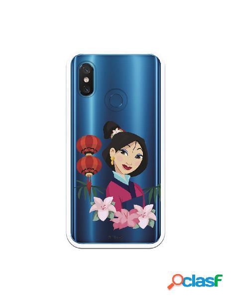 Funda para Xiaomi Mi 8 Pro Oficial de Disney Mulan Rostro -