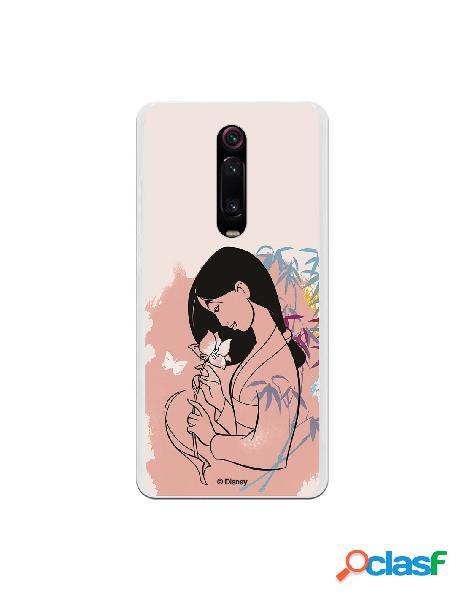 Funda para Xiaomi Mi 9T Oficial de Disney Mulan Flor de Loto