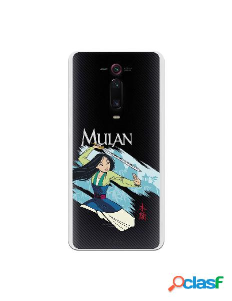 Funda para Xiaomi Mi 9T Oficial de Disney Mulan Tipografia -