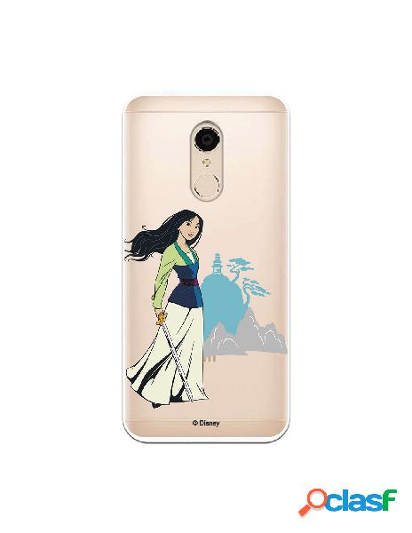 Funda para Xiaomi Redmi 5 Oficial de Disney Mulan Templo -