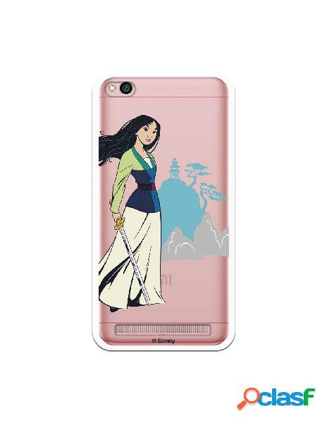 Funda para Xiaomi Redmi 5A Oficial de Disney Mulan Templo -